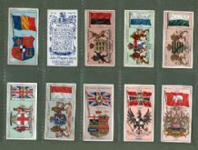 Cigarette cards set Countries arms & flags 1905